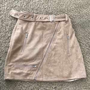Whitefox boutique suede skirt small